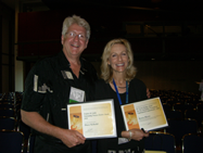 Dr. David Seibold with his award.